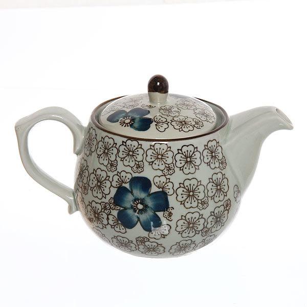 Чайник заварочный керамический 500 мл ″Синий цветок″ купить оптом и в розницу