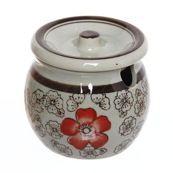 Сахарница керамическая 350 мл ″Красный цветок″ купить оптом и в розницу