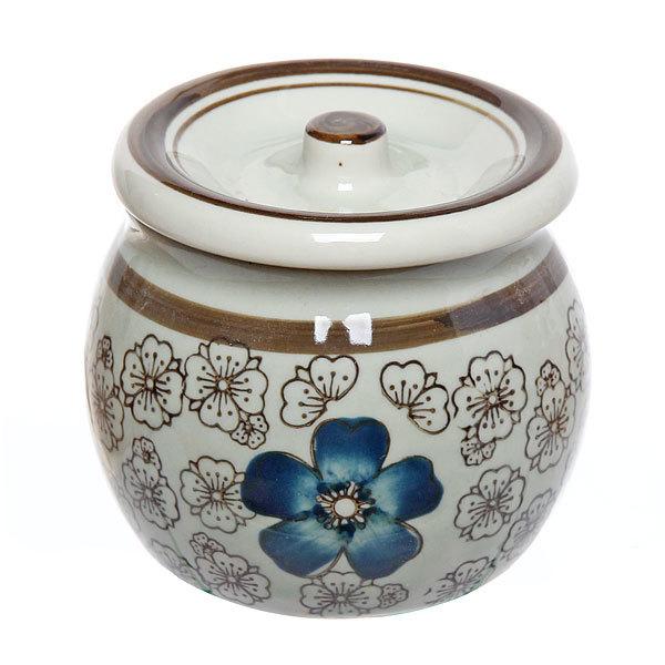 Сахарница керамическая 350мл ″Синий цветок″ купить оптом и в розницу