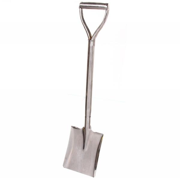Лопата садовая совковая 80см цельнометалл, с V ручкой XL4171 нержавейка купить оптом и в розницу