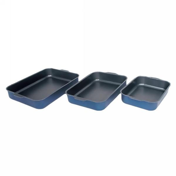 Противень алюминиевый «Лазоньера» в наборе 3 шт. (190*25см, 23*30 см, 27*35см), без крышки, а/п Scandia купить оптом и в розницу