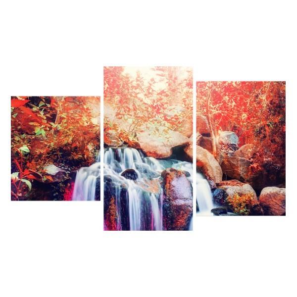 Картина модульная триптих 55*96 см, водопад купить оптом и в розницу