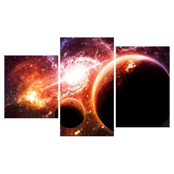 Картина модульная триптих 55*96 см, планеты купить оптом и в розницу