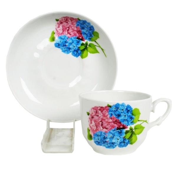 Чайная пара 250мл ф. кирмаш ГОРТЕНЗИЯ (1/12) купить оптом и в розницу