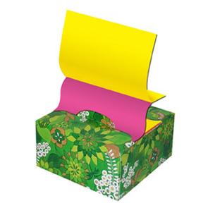 """Бум.с лип.сл. 76*76 Hopax  """"Цветы"""", в диспенсере (желт, розов.) 200л купить оптом и в розницу"""