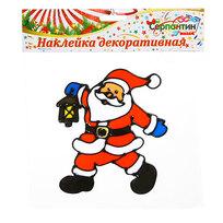 Наклейка на стекло 16*14см, Дедушка Мороз 2014В-193R купить оптом и в розницу