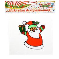 Наклейка на стекло 16*14см Дедушка Мороз 2014В-177R купить оптом и в розницу