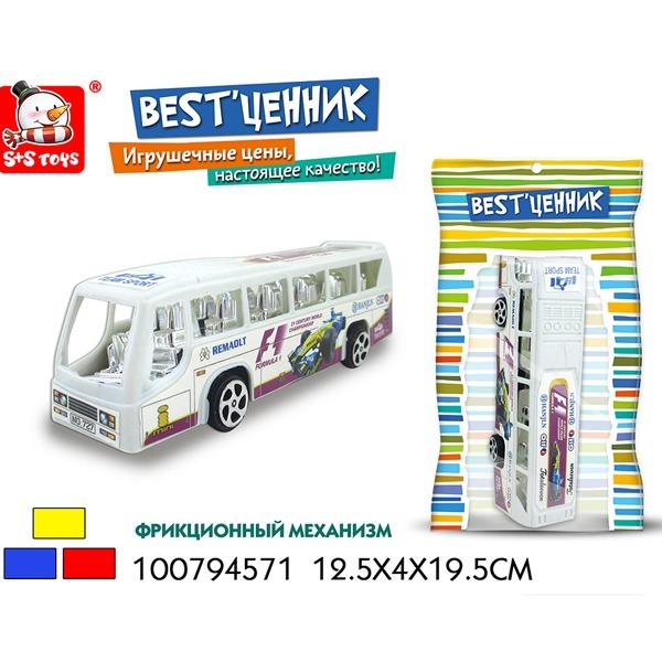 """Автобус инерц. 100794571 BEST""""ценник в пак. купить оптом и в розницу"""
