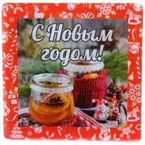 Магнит виниловый с заливкой ″С Новым годом!″, Варенье Вкус праздника купить оптом и в розницу