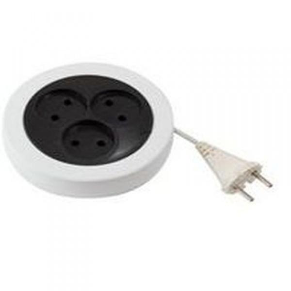 Удлинитель электрический 5 м/3 роз. рулетка б/з (ШВВП 2*0,5) (1/20) купить оптом и в розницу