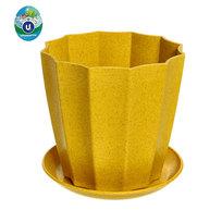 Горшок для цветов ЭКО Ракушка″ 16*15,5см SHY-17B желтый купить оптом и в розницу