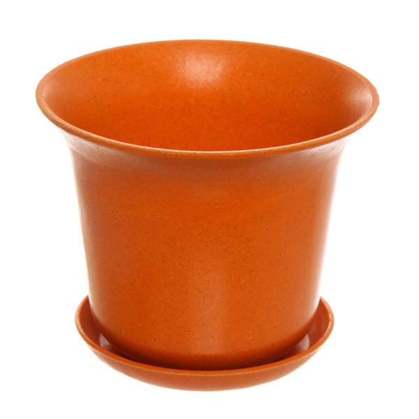 Горшок для цветов ЭКО Колокольчик″ 10,5*13см SHY-15 оранжевый 0,8 купить оптом и в розницу