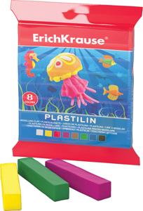 Пластилин  8 цв.120г Erich Krause в запечатке купить оптом и в розницу