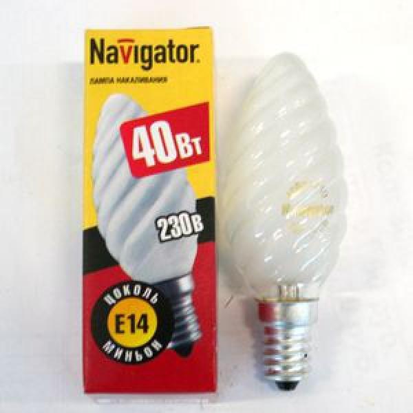 Лампа накаливания Navigator NI-TC-40Вт-230В-E14-FR матов.свеча витая (10/100) купить оптом и в розницу