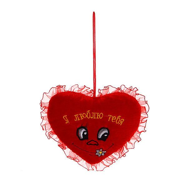 Подвеска мягкая ″Валентинка″ Сердечко 13,5*16см с вышивкой 1036-10 купить оптом и в розницу