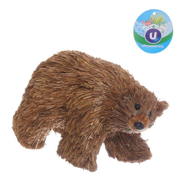 Садовая фигура ″Бурый медведь″, солома, 18*11 см купить оптом и в розницу