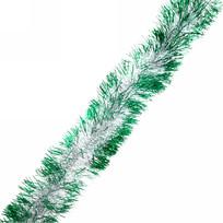 Мишура 2м 9см ″Изумрудная тайна″ серебро/зеленый купить оптом и в розницу