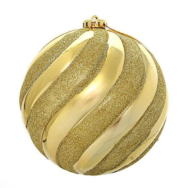 Новогодний шар ″Золотые линии″ 15см купить оптом и в розницу