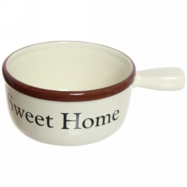 Бульонница керамическая с ручкой 600мл ″ Sweet Home″ YX154010 купить оптом и в розницу