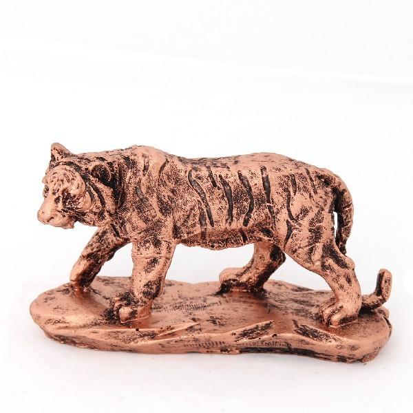 Статуэтка из полистоуна ″Тигр″ под бронзу 8*15 см купить оптом и в розницу