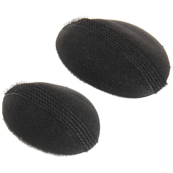 Заколка для придания объема волосам, на липучке, цвет черный купить оптом и в розницу