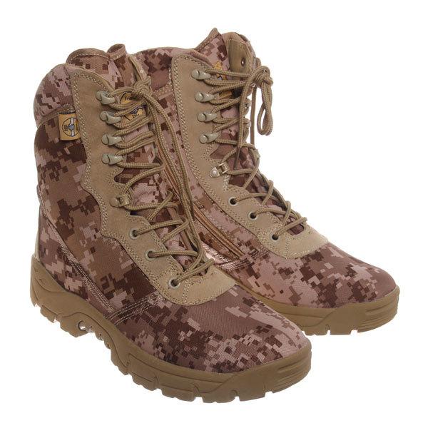 Ботинки тактические с высоким берцем, молния, MC17-02 desert digital (р-р 44) купить оптом и в розницу