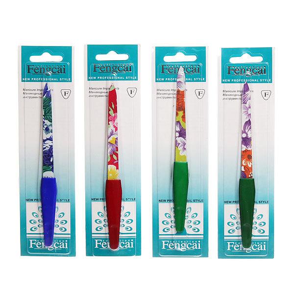 Пилка для ногтей металлическая на блистере ″Эстетика″, цвет ручки микс, цвет пилки микс,14см купить оптом и в розницу