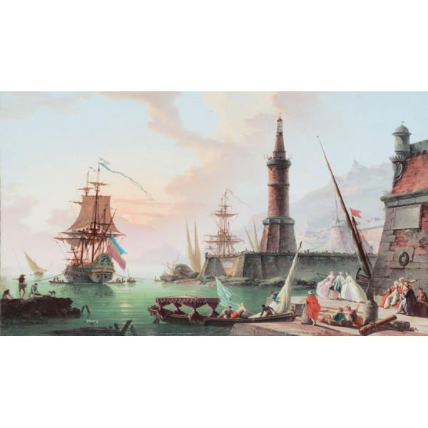 Картина репродукция 50*70 см ″Корабельная бухта″ купить оптом и в розницу