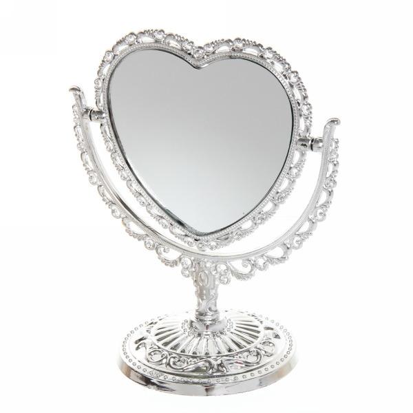 Зеркало настольное ″Версаль-винтаж″ Сердце 20см 439-12 серебро цв купить оптом и в розницу