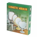 Зеркало настольное в пластиковой оправе ″Версаль Винтаж - Сердце″ цвет антрацит, двухстороннее 25см. купить оптом и в розницу