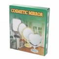 Зеркало настольное в пластиковой оправе ″Версаль Винтаж - Круг″ цвет антрацит, двухстороннее 25см. купить оптом и в розницу