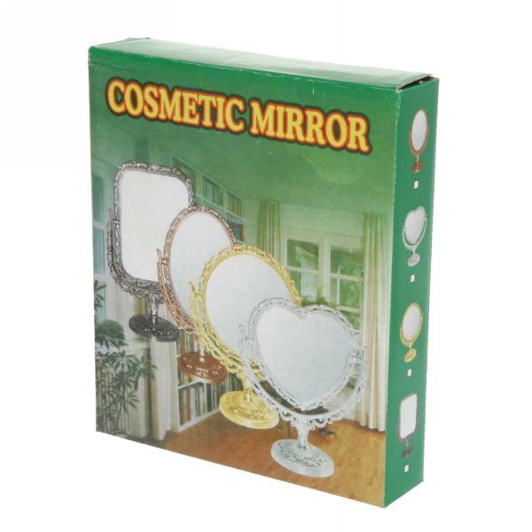 Зеркало настольное в пластиковой оправе ″Версаль Винтаж - Круг″ цвет коричневый, двухстороннее 25см. купить оптом и в розницу