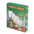 Зеркало настольное в пластиковой оправе ″Версаль Винтаж - Прямоугольник″ цвет коричневый, двухстороннее 21см купить оптом и в розницу