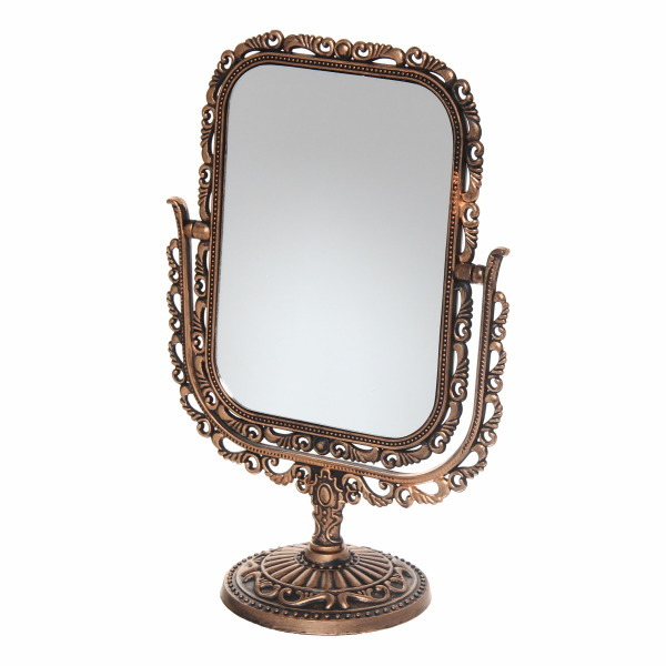 Зеркало настольное ″Версаль-винтаж″ Прямоугольник 21см 439-22 коричневый цв купить оптом и в розницу