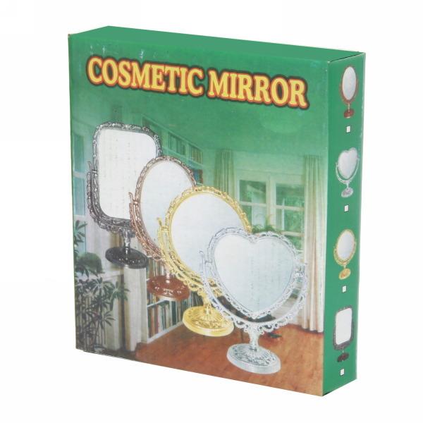 Зеркало настольное в пластиковой оправе ″Версаль Винтаж - Овал″ цвет антрацит, двухстороннее 25см купить оптом и в розницу