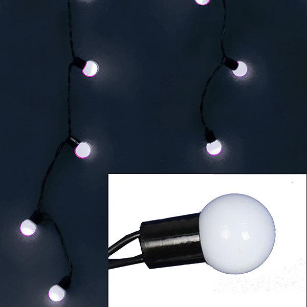 Бахрома светодиодная 3 х 0,3/0,4/0,5м, 96 ламп LED, Белый, 8 реж купить оптом и в розницу