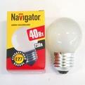 Лампа накаливания Navigator NI-С-40Вт-E27-230В-FR матов.сфера (10/100) купить оптом и в розницу