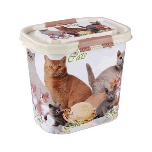 """Контейнер """"Cats"""" для корма 10л (овальный)(уп.8)  (Октябрьский) купить оптом и в розницу"""