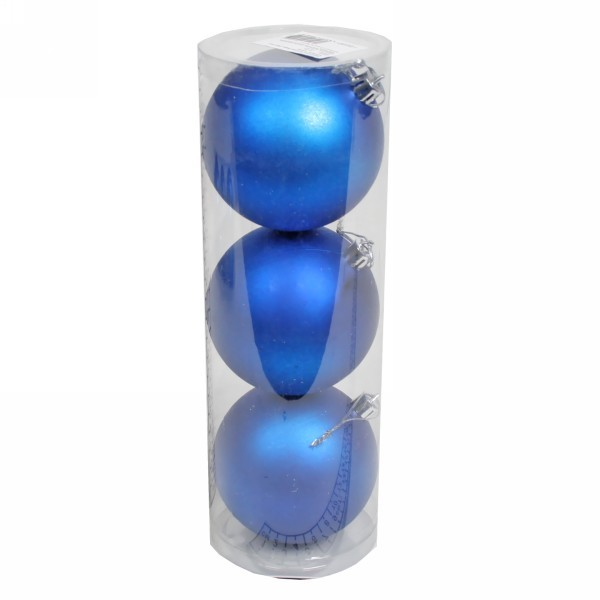 Новогодние шары ″Индиго″ 8см (набор 3шт.) купить оптом и в розницу