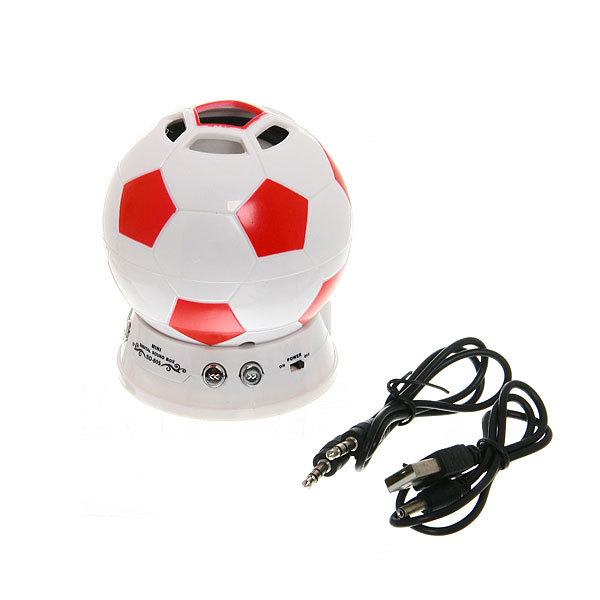 Минисистема акустическая ″Футбольный мяч″ FM, USB, miniSD, AUX SD-605 купить оптом и в розницу