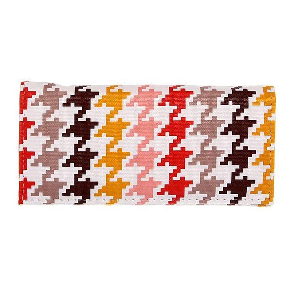 Кошелек женский ″Модный принт″ разноцветный, пастель 4 отделения 18*9 купить оптом и в розницу