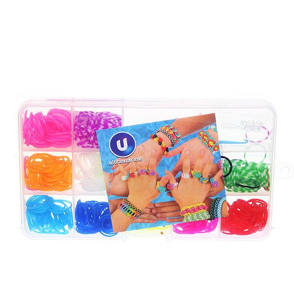 Набор резинок для плетения браслетов 360штук12 цветов Прямоугольный купить оптом и в розницу
