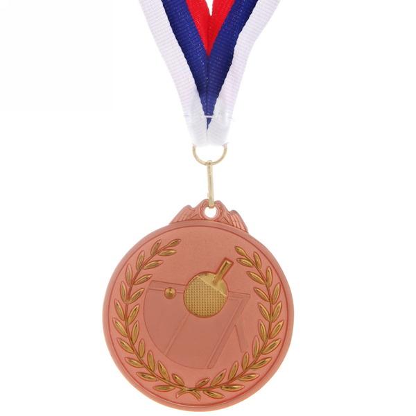 Медаль ″ Настольный теннис ″- 3 место (6,5см, два цвета) купить оптом и в розницу