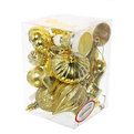 Елочные игрушки, набор 18 шт ″Золотое ассорти″ золото купить оптом и в розницу