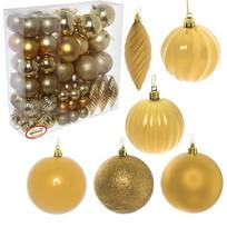 Елочные игрушки, набор 69 шт ″Царь - Ёлка″ шары, золото купить оптом и в розницу