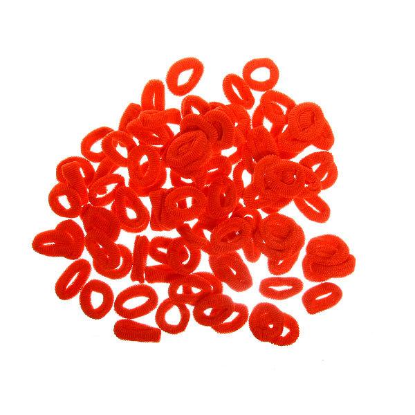 Резинки для волос 100шт ″Классика″, цвет красный купить оптом и в розницу