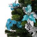 Елка искусственная 60см с украшениями голубой Z-13228 купить оптом и в розницу