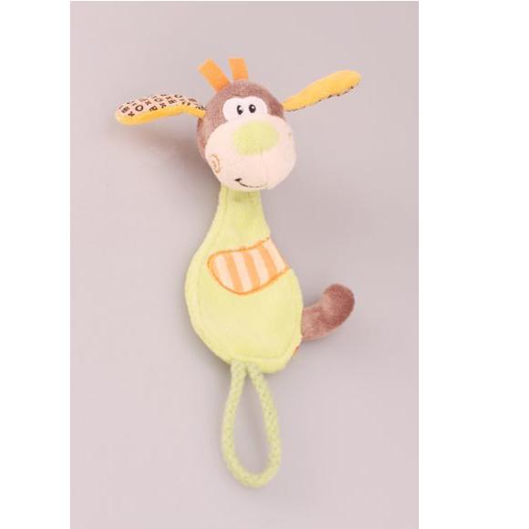 Игрушка разв. 93576 Веселый щенок прищепка для соски Жирафики купить оптом и в розницу