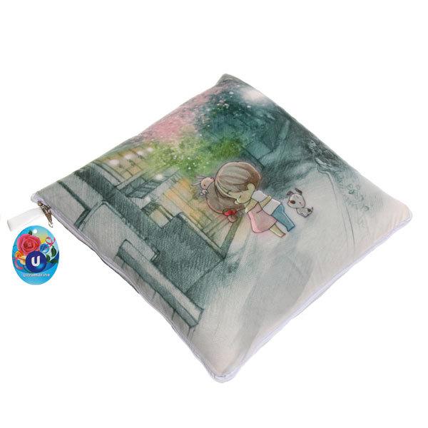 Подушка-плед 105*145см ″Любовь с первого взгляда″ купить оптом и в розницу