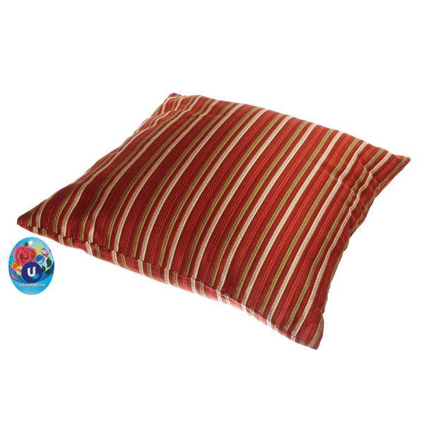 Подушка декоративная 44*44см ″Восточный уют″ полоски узкие красные купить оптом и в розницу